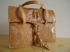 Luxuriöse nagelneue Damen Handtasche Bag-Leder Farbe Natur-Sandbeige 29x24cm
