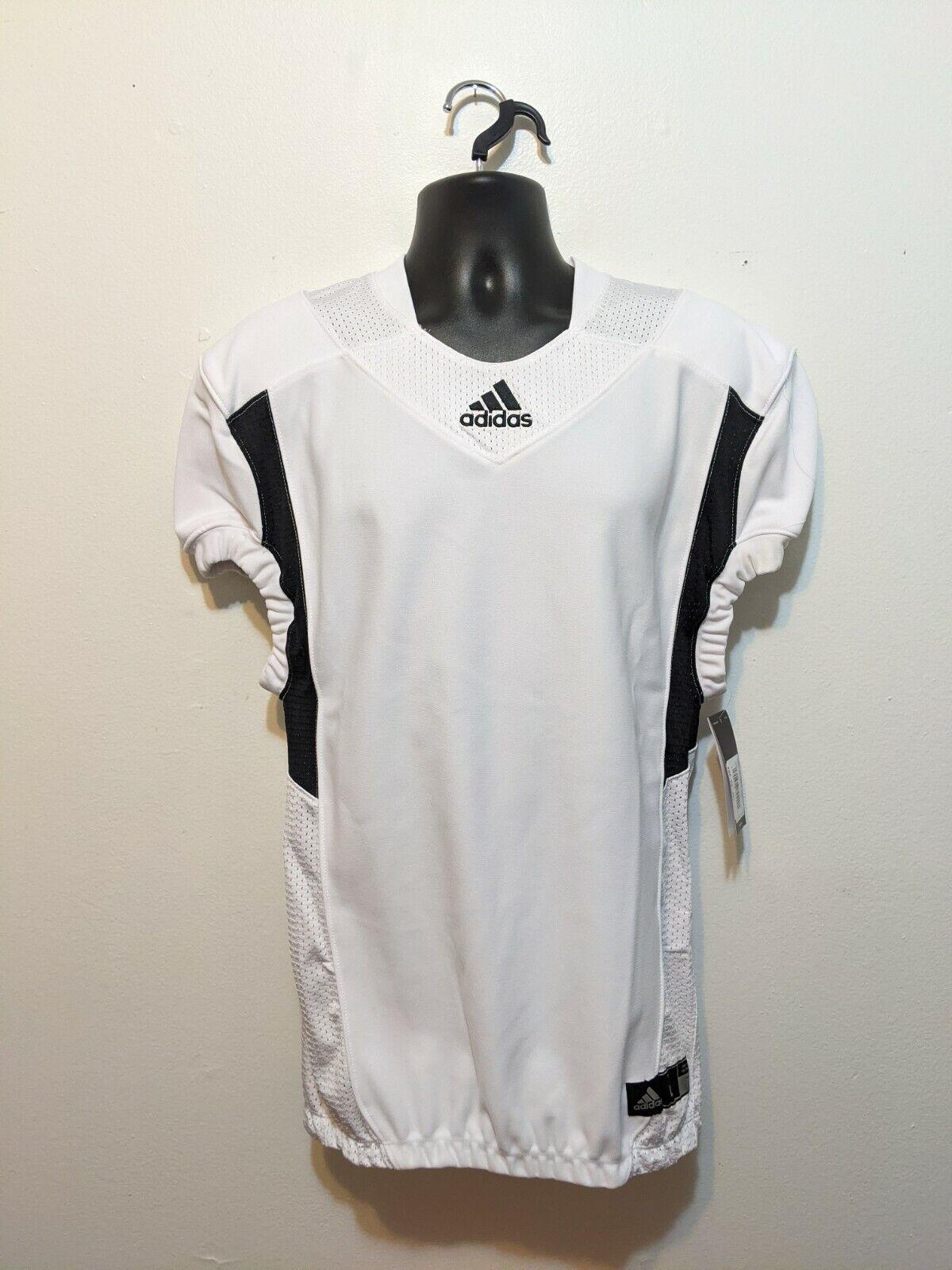 Adidas Techfit Hyped Football Jersey White/Black AZ9291 Men's Size Large NWT