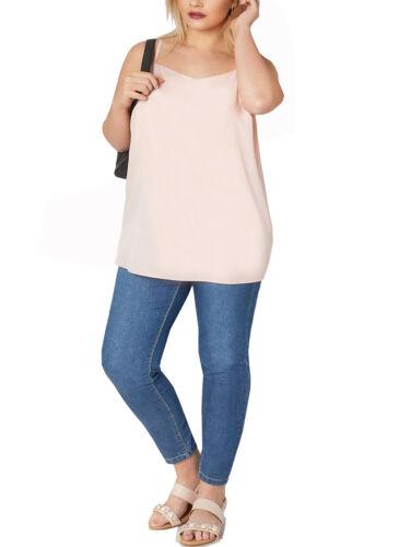 Il tuo EX rosa tenue taglio lungo Cami Top Con Spalline Taglie 18 20 22 24 26//28 30//32