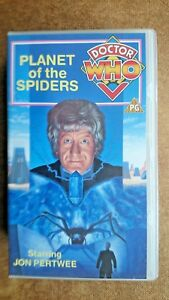 Doctor-Who-Planet-Of-The-Spiders-VHS-1991-2-Tape-Set-Jon-Pertwee