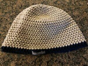 Women's Summerfest knit cap size Small beige beanie