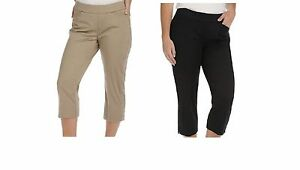 1b2e2808 NWT Women's Lee Natural Fit Kennedy Style-Up Pull-On Capri's 18 plus ...