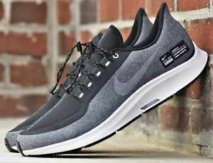 Details about Nike Air Zoom Pegasus 35 Shield New Men's Water Resistant Black Running Shoes