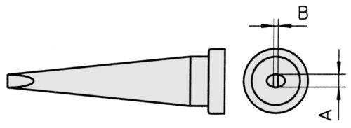 MPR80 Weller LT-M Lötspitze für WP80 Meißelförmig LTM WSP80 FE75