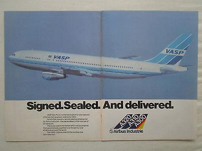 11//1982 PUB AIRBUS A300 A310 A320 AIRLINER CIBLE TIR ARC BOW ARROW ORIGINAL AD