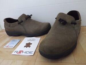 Worn-Once-Rohde-Nubuck-Leather-Slip-On-Elastic-Ladies-Shoes-4-UK-37-EU-UNMARKED