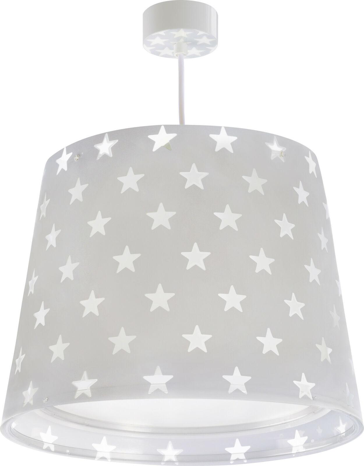 Kinderzimmer-Lampe  Mädchen & Jungen 81212E Sterne Hänge-Lampe  grau