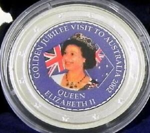 2002-GOLDEN-JUBILEE-VISIT-Silver-1oz-Coin-in-Capsule-with-Certificate