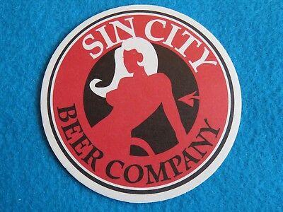 NEVADA Brewery Beer Breweriana Coaster ~ SIN CITY Brewing Company ~*~ Las Vegas