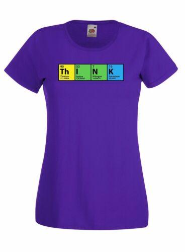 """El Big Bang Theory /""""piensa/"""" skinny de alta calidad de la tabla periódica T shirt gráfico"""