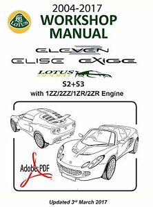 2004 2017 s2 s3 lotus elise exige workshop manual 1zz 2zz 1zr fae rh ebay com Ford Engine Repair Manual Toyota Engine Repair Manual CDs