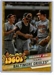 Baltimore-Orioles-2020-Topps-Decades-Best-5x7-Gold-DB-27-10-Orioles
