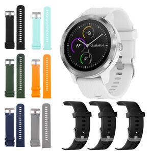 Armband-Strap-20mm-Silikon-Watch-Band-For-Garmin-Vivoactive-3-Vivomove-HR