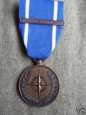NATO SERVICE MEDAL IN BRONZE FOR SERVICE IN YUGOSLAVIA