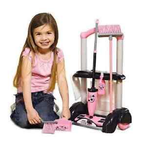 Casdon Rose Filles Hetty Chariot Nettoyage Nettoyer HOOVER Accessoires mop Seau jouet