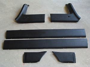 KIT-SET-MODANATURE-FASCE-FIAT-PANDA-4X4-DAL-1986-AL-2002-ESTERNE-NERA-6-PEZZI