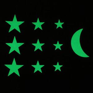 Glow-in-the-dark-12pc-Stars-1pc-Moon-Bedroom-Kids-Decor-Galaxy-Wall-Art-Stickers
