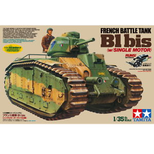 Tamiya-30058-French-Battle-Tank-B1-bis-w-Single-Motor-1-35
