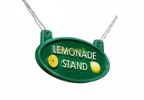 Lemonade Stand Sign Playground Decoration Cubbyhouse Backyard Play Store Shop
