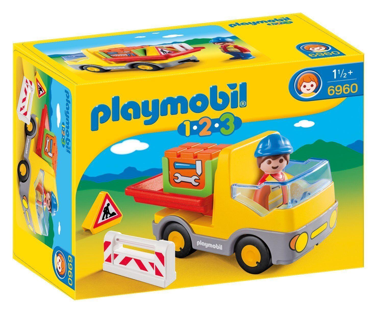 Playmobil 6960 1.2.3 Camión de Construcción Nuevo Y Y Y en Caja Envío Rápido  los clientes primero