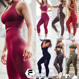 Women-Seamless-Sports-Suit-Yoga-Bra-Pants-Workout-Leggings-Gym-Stretch-Sportwear