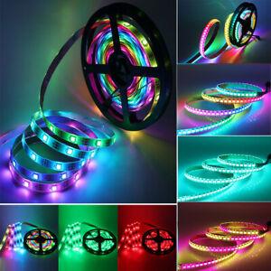 5V WS2812B RGB 5050 LED Streifen Strip Lichtleiste Individuell Adressierbar 1-5m
