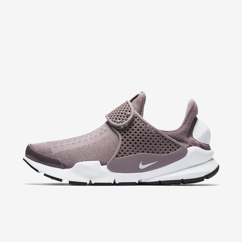 Nike sock dardo donne grigio grigio bianco nero 848475-201 scivolare su purplerare