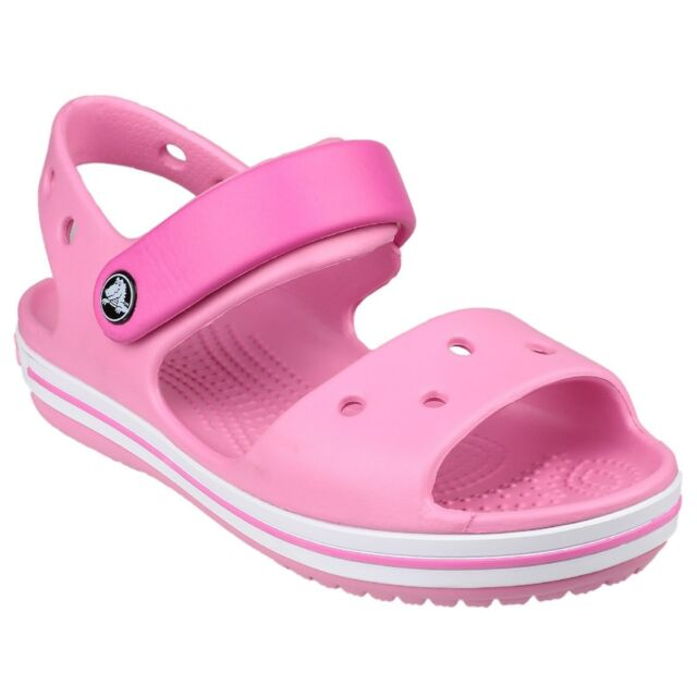 f75d09d2929f Crocs Crocband Girl s Pink Velcro Open Toe Sporty Sandals With ...
