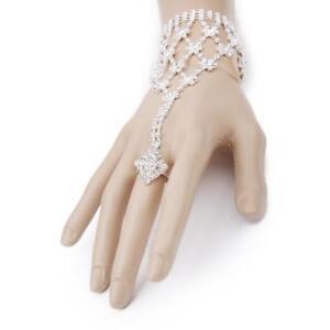 parure de main bracelet bague