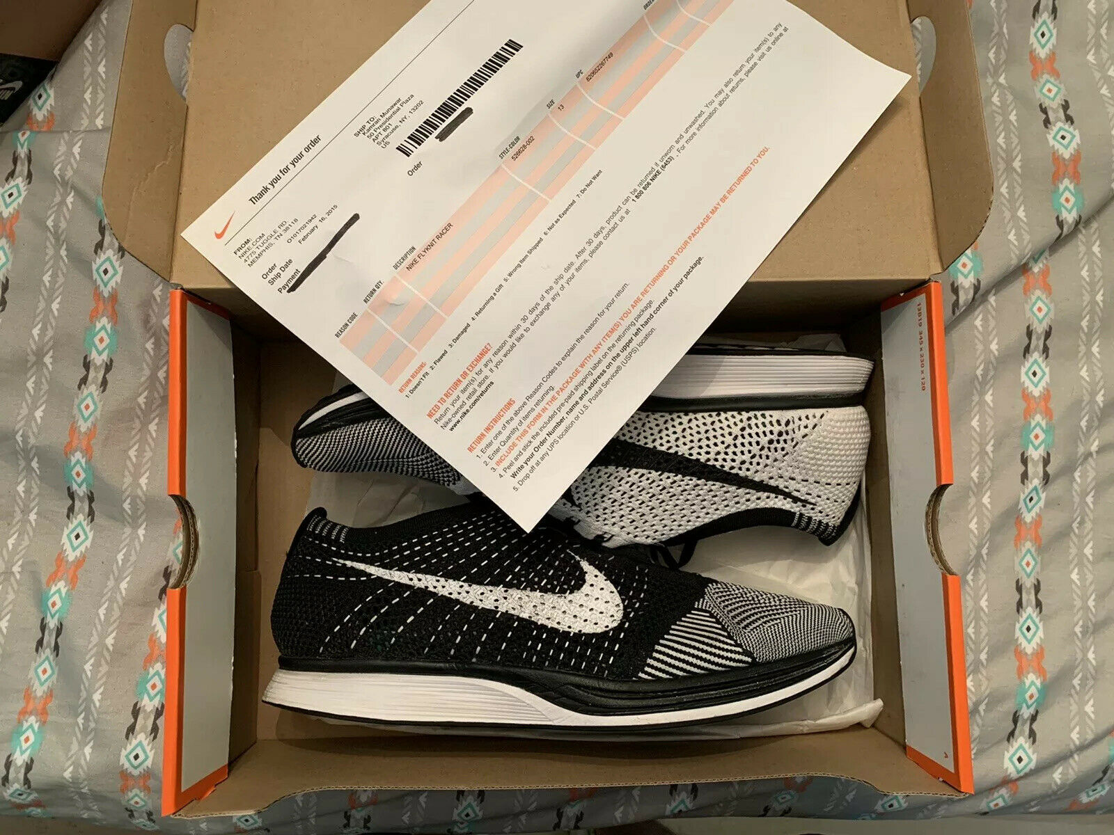 best sneakers on wholesale new arrive Nike Flyknit Racer 526628 007 Black White Volt Mens Size 12 for ...
