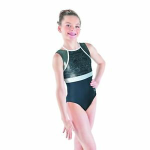 Ozone-Kim-Black-Mesh-Choker-Neck-Gymnastics-Leotard-Child-Medium