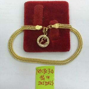 Gold-Authentic-18k-saudi-gold-initial-bracelet