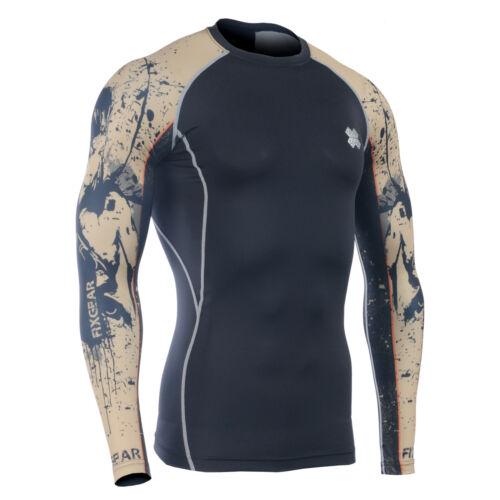 Skins Rash Guard Fixgear Compression Baselayer Shirt UV Sun Protection UPF 50