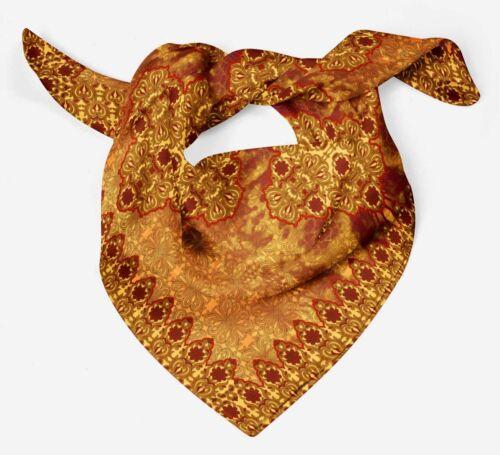 Phagun Floral /& Paisley Block Pure Silk Neck Wrap SquareScarf-BP-PSCSD33A