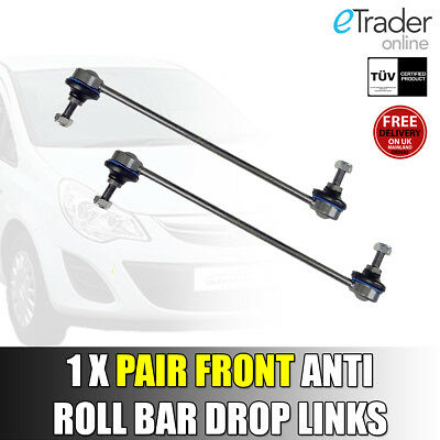 FRONT STABILISER ANTI ROLL BAR DROP LINKS PAIR FOR VAUXHALL CORSA D//MK3 13321280