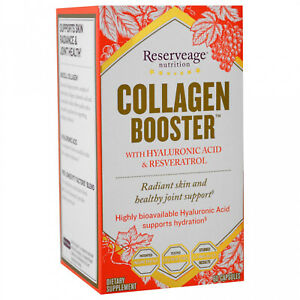 ReserveAge Nutrition, Collagen Booster With Hyaluronic Acid And Resveratrol, 60