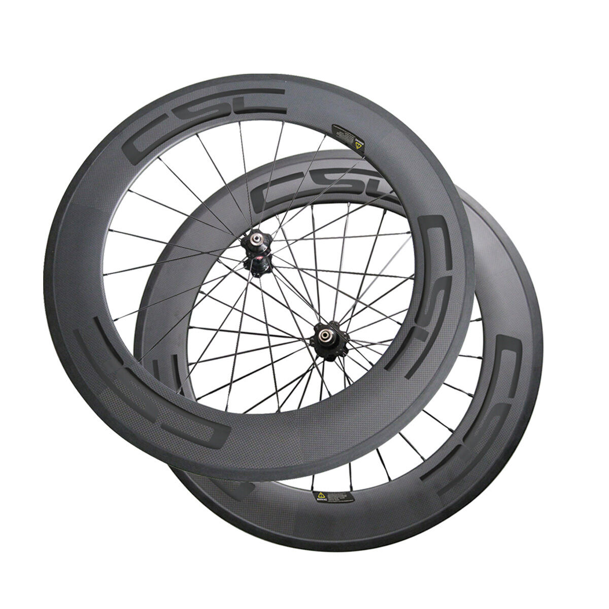 CSC Bicycle wheels 88mm Clincher carbon bike wheelset  23mm, 25mm width