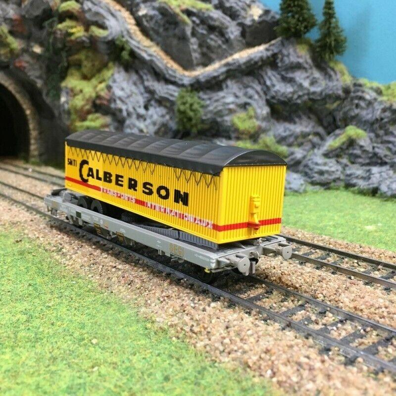 Wagon type kangourou Calberson Sncf époque III HO187REE WB225