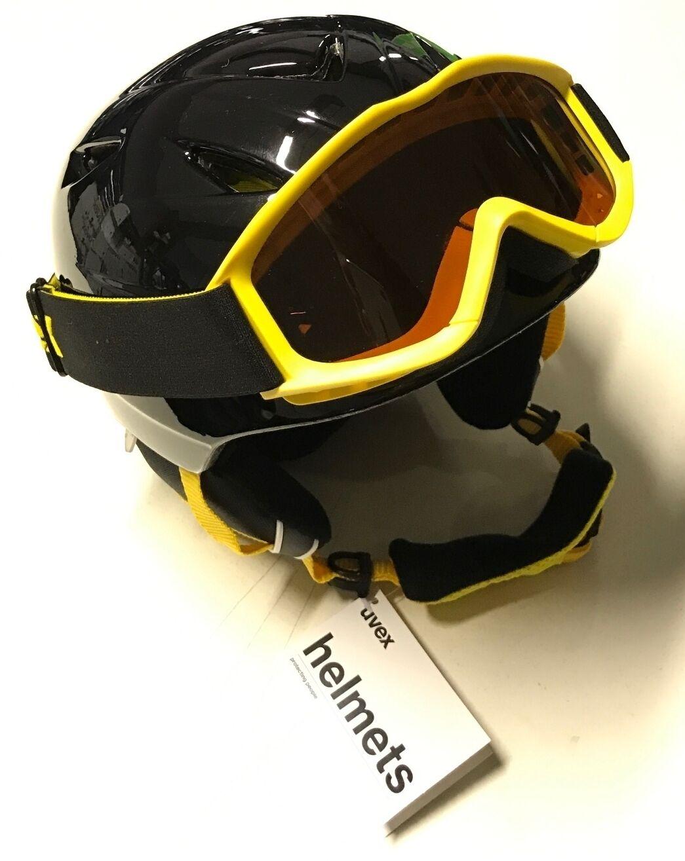 Uvex Grille D'Aération Jeu de 2 Enfants Casque Ski avec Lunettes Snowboard