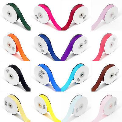 5 Metre sample length woven edged Grosgrain Ribbon 25mm width various colours