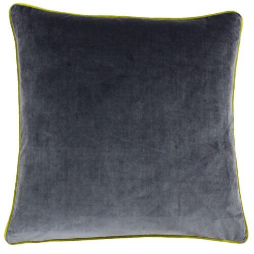 """55 cm Remplie de Luxe Large Doux Velours Gris Anthracite Noir Vert Coussin 22/"""""""