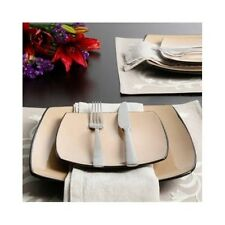 Item 5 Square Stoneware Dinnerware Set 16 Piece Kitchen Dining Plates Bowls  Dishes Mugs  Square Stoneware Dinnerware Set 16 Piece Kitchen Dining Plates  ...