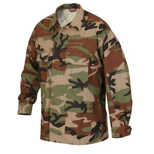 Woodland-Camo-BDU-Uniform-Men-039-s-Mil-Spec-Jacket-by-TRU-SPEC