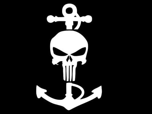 Punisher marine militaire Autocollant Vinyle Voiture Mur Camion Autocollant Taille Choisir Couleur