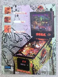 Jurassic Park:the Lost World pinball Machine flyer