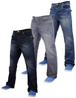 Mens Boys APT Designer Boot Cut Denim Jeans Trousers Light & Dark Wash All Sizes