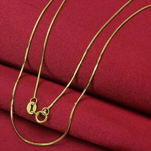 17-7inch-Pure-Solid-18K-Yellow-Gold-Necklace-Gleamy-Snake-Chain-2-2-5g-Hot-Sale