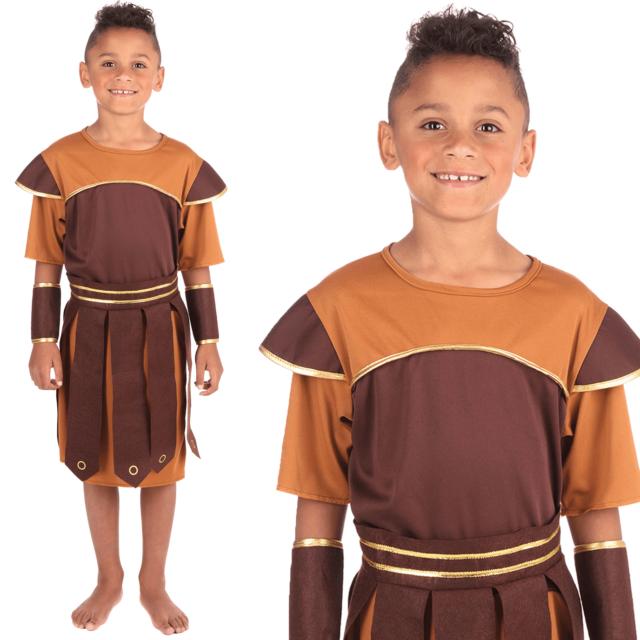 KIDS BOYS GREEK ROMAN GLADIATOR SOLDIER FANCY DRESS BOOK WEEK SIZE 4//12 YEARS