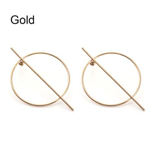 silber frauen geometrische kreis ohrringe runde ohr hengst gold farbe