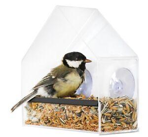 Futterhaus-Window-One-Fenster-Saugnaepfe-Vogelhaus-Futterspender-Vogel-Pekueba